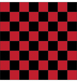 Red checkered board vector image