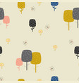 seamless floral pattern in scandinavian style vector image vector image
