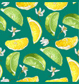 seamless summer pattern with citrus slices of vector image vector image