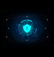 shield on futuristic background vector image