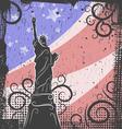 statue liberty sketch vector image vector image