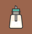 sugar bottle coffee related filled style vector image vector image