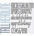 Tall Stripes Headline retro style light condensed vector image vector image