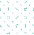 thermometer icons pattern seamless white vector image vector image