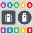 travel luggage suitcase icon sign A set of 12 vector image vector image
