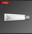 tube of toothpaste cream or gel grayscale vector image vector image