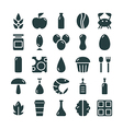 Variety of food icons set vector image