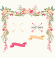 wedding floral elements save date invitation vector image vector image