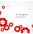 White floral 3d background vector image