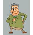 winking cartoon man in suit and tie vector image vector image