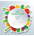 organic food vector image