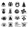 Merry christmas icons set vector image