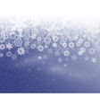Winter background with snowflakes eps 10 vector image