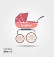 pink baby pram icon vector image
