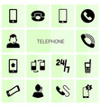 14 telephone icons vector image vector image