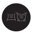 abs muscules black concept icon abs vector image vector image