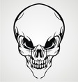 Abstract Skull Face vector image vector image