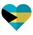 Bahamas flat heart flag vector image vector image