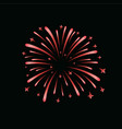 beautiful red firework bright firework isolated vector image