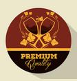 best wine cups label vector image vector image
