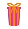 big gift box present ribbon vector image vector image