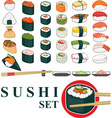 Big Sushi Set vector image