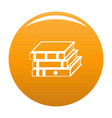 book school icon orange vector image vector image