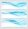 bright blue abstract swoosh modern line header