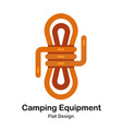 camping equipment flat icon vector image