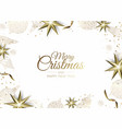 christmas greeting card wit christmas tree vector image vector image
