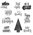 christmas letterings vector image vector image