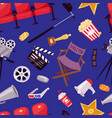 cinema movie making tv show equipment tools vector image vector image