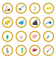 cleaning cartoon icon circle vector image