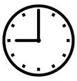 Clock 9 vector image vector image