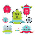 collection of labels and ribbons design elements vector image