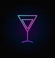 colorful martini glass icon vector image vector image