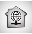 computer data protection globe icon vector image vector image