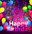 concept background birthday celebration vector image vector image