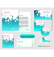 corporate identity template company style vector image