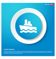 cruise icon abstract blue web sticker button vector image