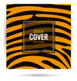 design orange cover with tiger skin texture vector image vector image