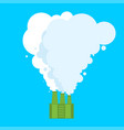 ecologically clean plant clean smoke favorable vector image vector image