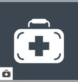 first aid kit related glyph icon vector image