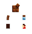 flat icon sweet set of cocoa shaped box dessert vector image vector image