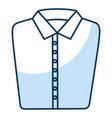 folded elegant shirt icon vector image vector image