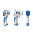 forehead thermometer non contact infrared medical vector image