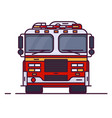 front view fire engine vector image vector image
