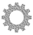 gearwheel mosaic of trend icons vector image vector image