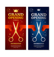 grand opening banners invitation set