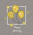 happy birthday card happy birthday card vector image vector image